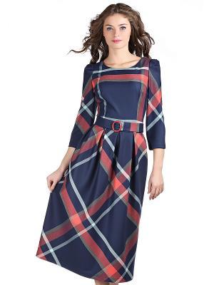 Платье OLIVEGREY. Цвет: темно-синий, красный
