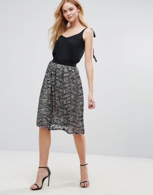 Love Кружевная юбка. Цвет: черный