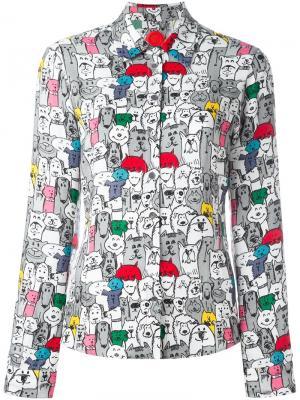 Рубашка с принтом котов и собак Ultràchic. Цвет: многоцветный