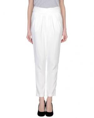 Повседневные брюки X'S MILANO. Цвет: белый