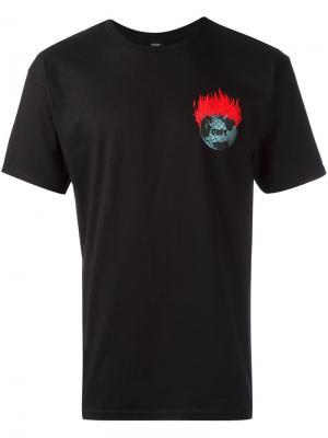 Футболка с принтом логотипа Obey. Цвет: чёрный