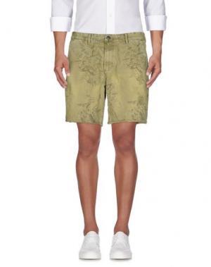 Джинсовые шорты SCOTCH & SODA. Цвет: зеленый-милитари