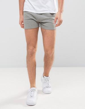 ASOS Серые трикотажные шорты для бега с контрастной вставкой. Цвет: серый