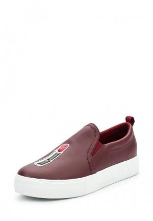 Слипоны Trussardi Jeans. Цвет: бордовый