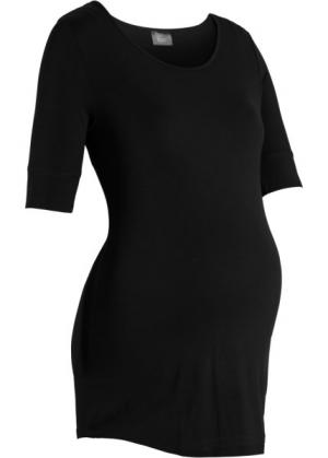 Мода для беременных: базовая футболка с рукавом до локтя (черный) bonprix. Цвет: черный
