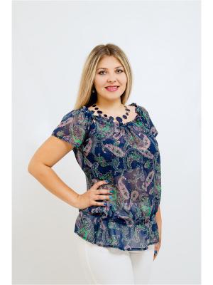 Блузка BALSAKO. Цвет: синий