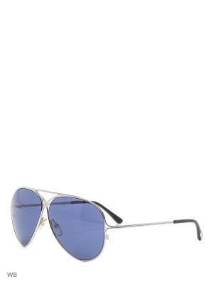 Солнцезащитные очки FT 0142 18V Tom Ford. Цвет: серебристый