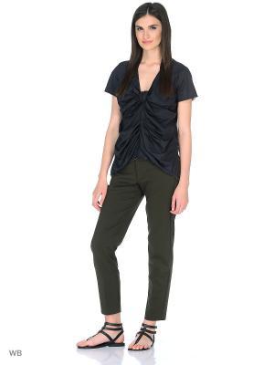 Блузка Manila Grace. Цвет: антрацитовый, темно-коричневый
