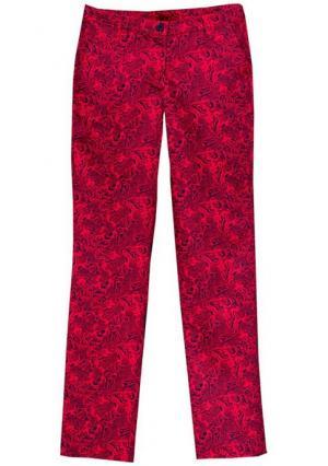 Брюки Y.O.U.. Цвет: ярко-розовый/синий с рисунком