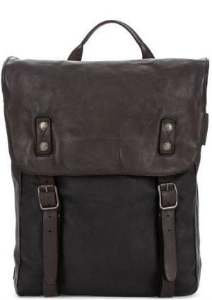 Рюкзак из натуральной кожи с широкими лямками aunts & uncles. Цвет: черный