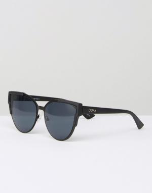 Quay Australia Солнцезащитные очки кошачий глаз с плоскими стеклами Ga. Цвет: черный