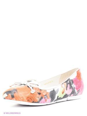Балетки JUST COUTURE. Цвет: розовый, оранжевый