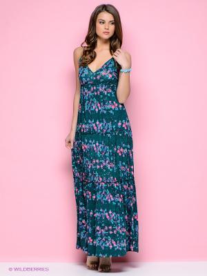 Платье Ginger and Soul. Цвет: морская волна, бирюзовый, розовый