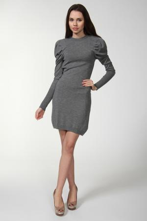 Платье джерси Bird. Цвет: серый
