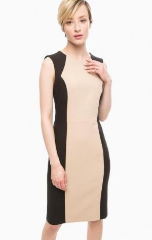 Платье без рукавов на молнии olsen. Цвет: бежевый