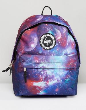 Hype Рюкзак с фиолетовым принтом. Цвет: фиолетовый