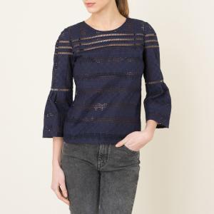 Блузка с вышивкой GIANNA BA&SH. Цвет: темно-синий