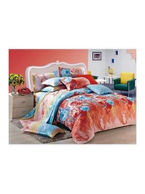 Комплект постельного белья 2 сп. сатин, рисунок 683 LA NOCHE DEL AMOR. Цвет: терракотовый
