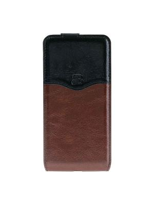 Чехол флип iPhone 7 Plus Burkley. Цвет: коричневый