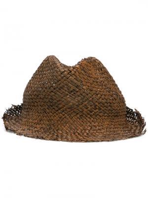 Шляпа в винтажном стиле Isabel Benenato. Цвет: коричневый