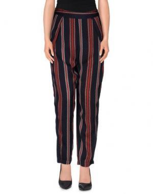 Повседневные брюки MADE FOR LOVING. Цвет: темно-синий