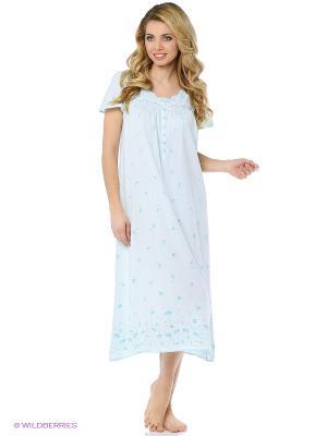 Ночная сорочка Aria. Цвет: голубой