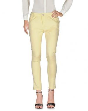 Повседневные брюки HANNY DEEP. Цвет: светло-желтый