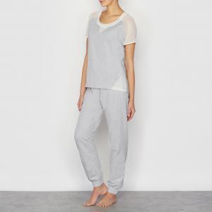 Пижама LOVE JOSEPHINE. Цвет: серый/ розовый