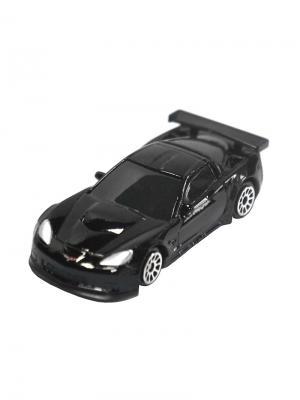Машинка Chevrolet Corvette C6-R, Черная (1:64) (PS-344005S-BL) Pit Stop. Цвет: черный