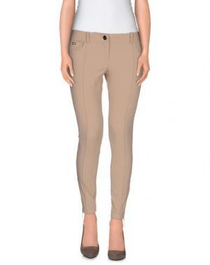 Повседневные брюки ELISABETTA FRANCHI. Цвет: бежевый