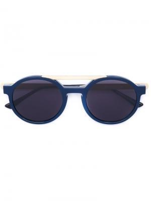 Солнцезащитные очки в круглой оправе Dr. Woo x Thierry Lasry. Цвет: синий