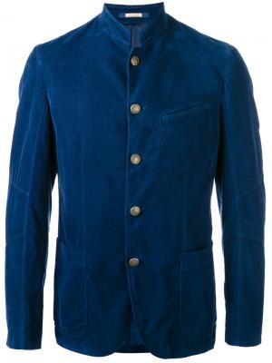 Приталенная спортивная куртка Massimo Alba. Цвет: синий