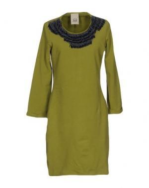 Короткое платье JIJIL. Цвет: светло-зеленый