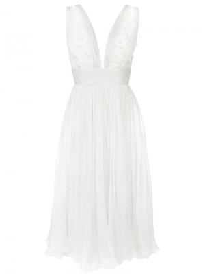 Декорированное платье из тюля Maria Lucia Hohan. Цвет: белый