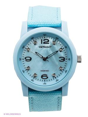 Часы Sprout. Цвет: голубой