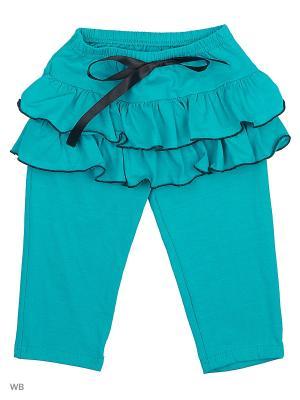 Бриджи-юбка Три ползунка. Цвет: зеленый, черный