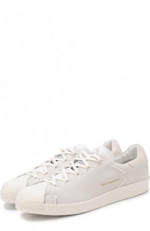Кожаные кеды Super Knot на шнуровке Y-3. Цвет: белый