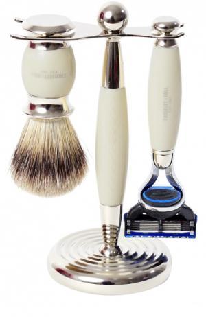 Кисть для бритья Станок с лезвием Fusion Слоновая кость Truefitt&Hill. Цвет: бесцветный