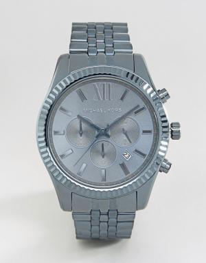 Michael Kors Синие часы с хронографом из нержавеющей стали Lexington M. Цвет: синий