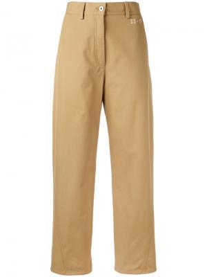 Прямые брюки Hache. Цвет: телесный