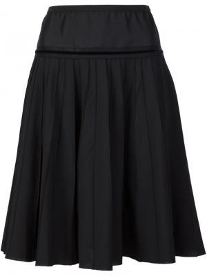 Плиссированная юбка Marc Jacobs. Цвет: чёрный