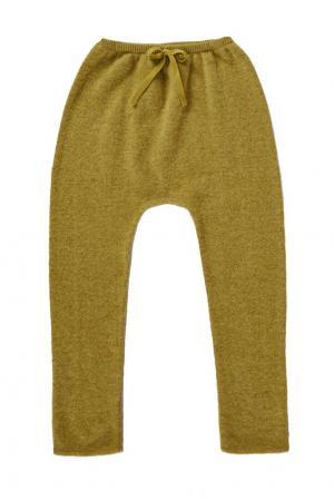 Комбинированные брюки Caramel Baby&Child. Цвет: зеленый