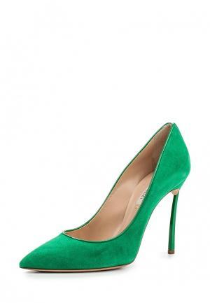 Туфли Casadei. Цвет: зеленый