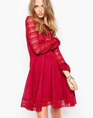 Gat Rimon Бордовое платье Muna. Цвет: красный