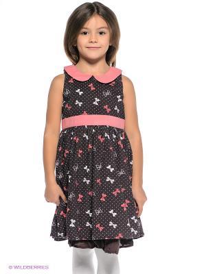 Платье 5,10,15. Цвет: коричневый