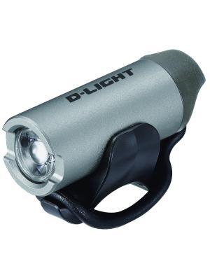 Передний фонарь с зарядкой от USB D-light. Цвет: серый