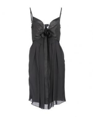 Короткое платье DICE KAYEK. Цвет: свинцово-серый
