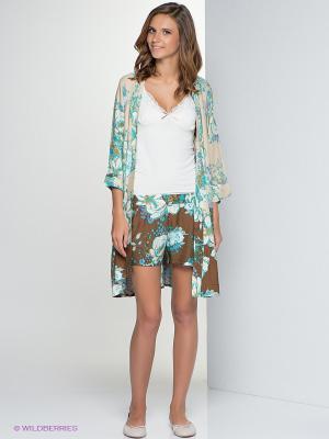 Комплект одежды HAYS. Цвет: коричневый, белый, бирюзовый