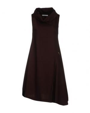 Платье до колена OBLIQUE CREATIONS. Цвет: какао