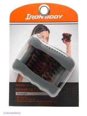 Эспандер кистевой массажный Iron Body. Цвет: черный, серый